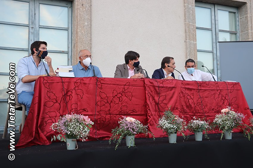 De izquierda a derecha: Germán Mateos Blázquez, José David de la Fuente, Carlos Sánchez Mesón, Paco de León y Felipe Lozano Bettero